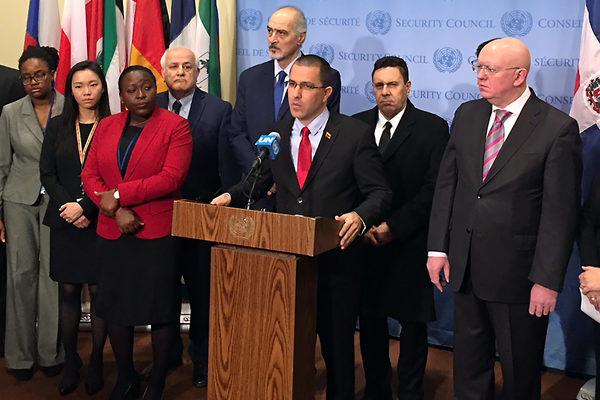 Gobierno de Maduro anuncia apoyo de medio centenar de países en la ONU