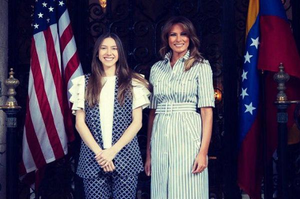 Melania Trump y esposa de Guaidó se reúnen en Florida