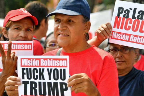 Chavismo realizó nueva protesta contra sanciones de EEUU