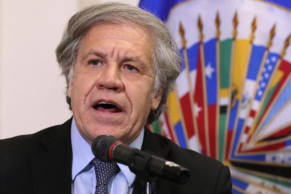 Almagro asume segundo período en OEA decidido a luchar contra «dictaduras» y Covid-19