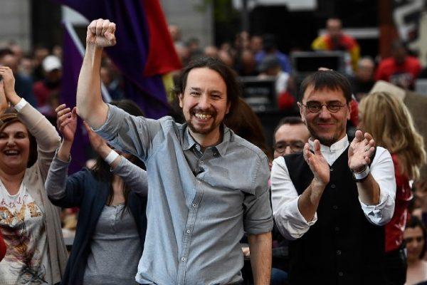En plena crisis, Podemos lanza su campaña electoral en España