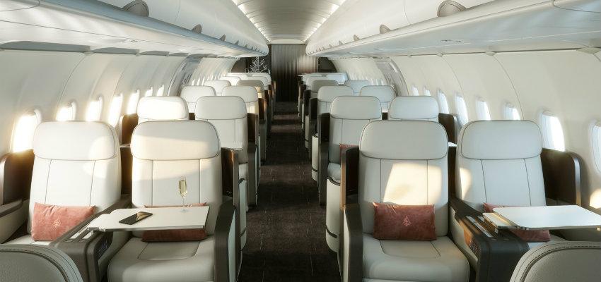 Cabina Four Seasons Private Jet
