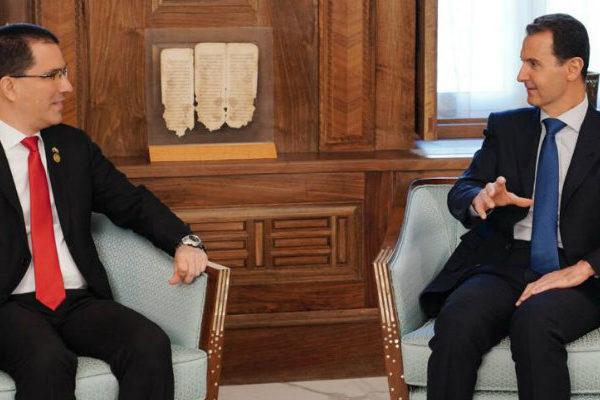 Canciller venezolano compara en Damasco la situación de Venezuela con Siria