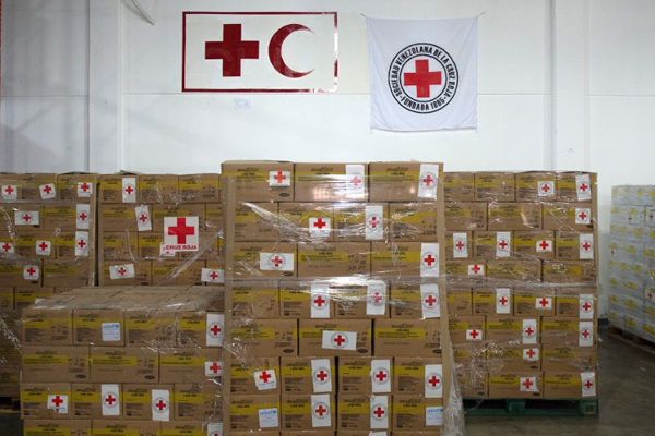 Cruz Roja de Venezuela recibió 42 toneladas de ayuda humanitaria