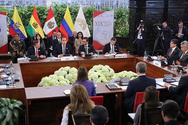 CAN cierra cumbre con llamado a integración y sin definición sobre Venezuela