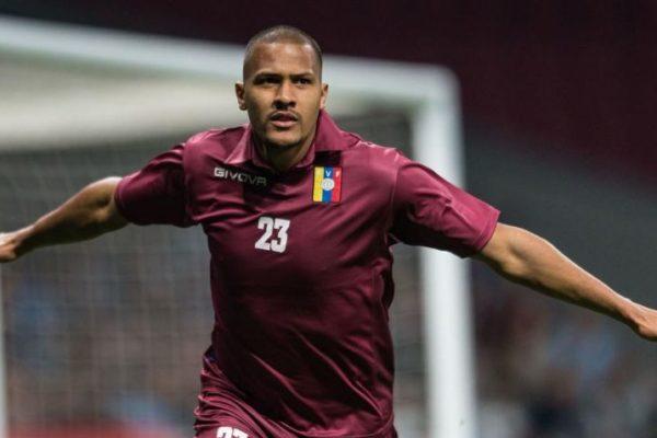 Salomón Rondón se pierde inicio de clasificatoria mundialista con Venezuela