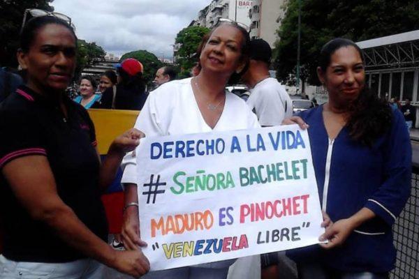 Manifestaciones intentaron llamar la atención de Bachelet sobre la real crisis del país