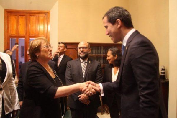 Guaidó: Bachelet dejará misión permanente en Venezuela para evaluar situación de DDHH