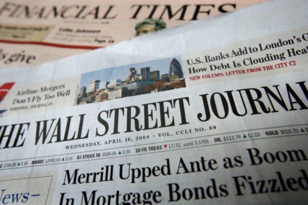 The Wall Street Journal cumple 130 años con 2,6 millones de suscriptores