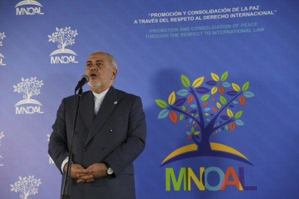 Canciller iraní respalda a Maduro y acusa a EEUU de «terrorismo económico»