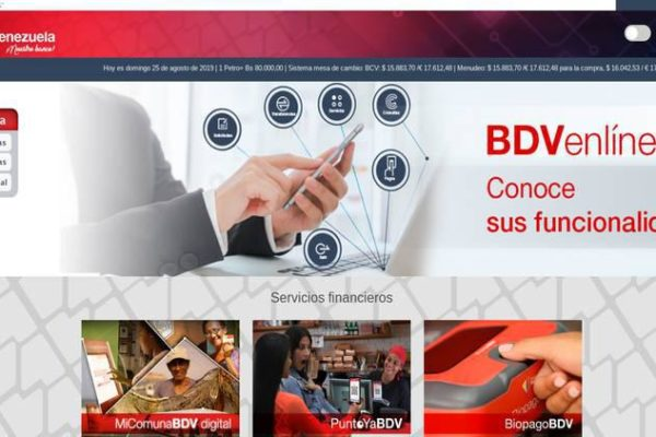 BiopagoBDV del Banco de Venezuela registra 531 pagos por minuto en Petros
