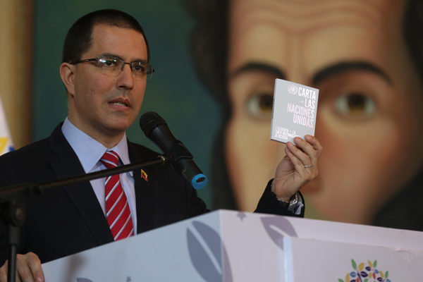 Arreaza: «falso positivo» de EEUU busca vincular a gobierno de Venezuela con narcotráfico
