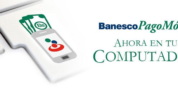 Banesco activó sistema de pago móvil en su página web