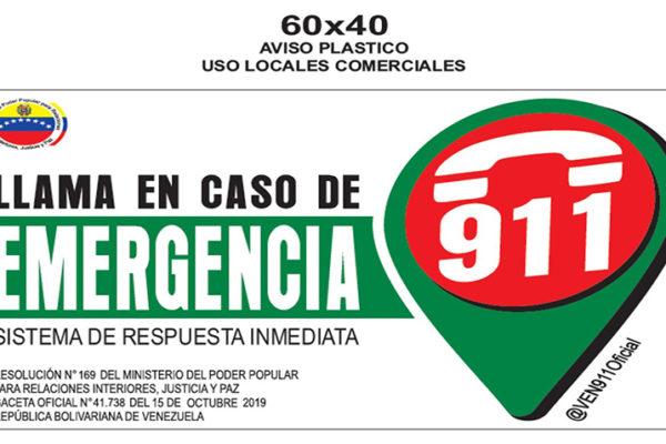 Ordenan a entidades públicas y privadas difundir el 911 para emergencias