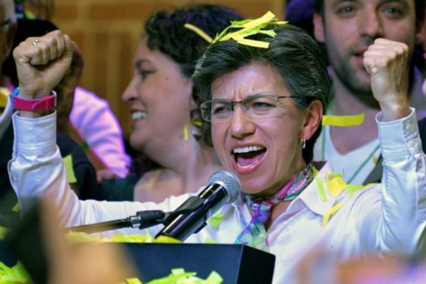 Centroizquierdista Claudia López es la primera alcaldesa de Bogotá