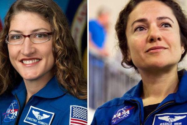 La NASA inicia el primer paseo espacial exclusivamente femenino