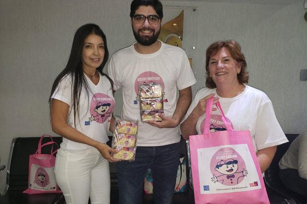Once Once se viste de rosado para apoyar la lucha contra el cáncer de mama