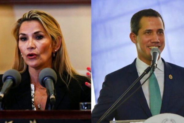 Guaidó prevé enviar «pronto» cuerpo diplomático a Bolivia tras diálogo televisivo con Áñez