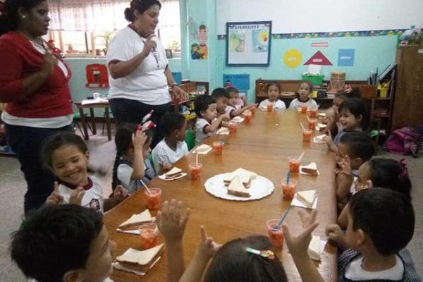 Seguros Venezuela promovió hábitos alimenticios saludables a niños de preescolar