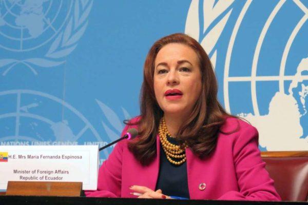 María Fernanda Espinosa: «Es tiempo de tener una mujer al frente de la OEA»