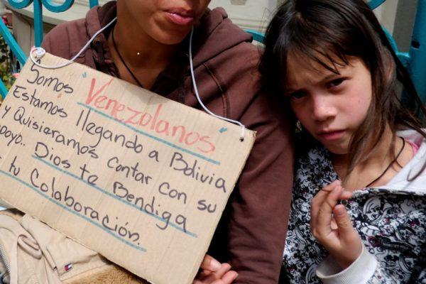 Migrantes venezolanos en Bolivia: