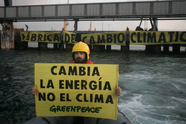 Greenpeace denuncia que continúan las inversiones masivas en energías fósiles