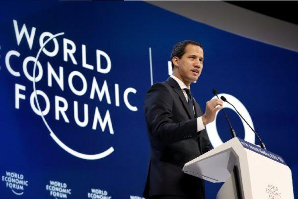 Guaidó pide apoyo en Foro de Davos para enfrentar a «conglomerado criminal internacional»