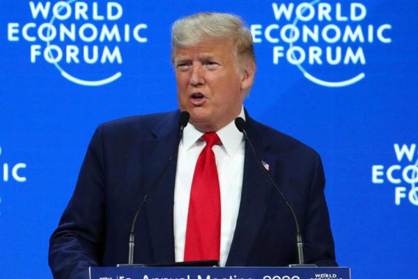 Trump expone en Davos su triunfo en las negociaciones con China y México