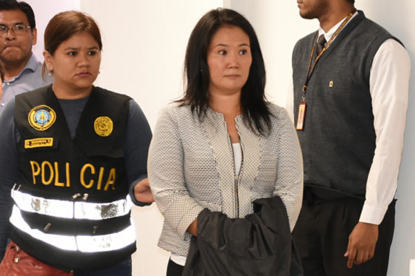 Programan más sesiones sobre prisión a Keiko Fujimori por caso Odebrecht en Perú