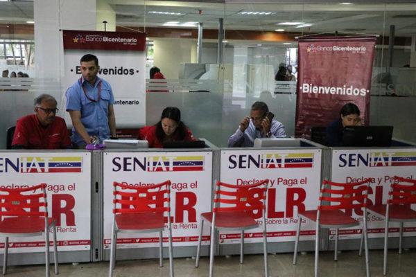 Banco Bicentenario activa taquilla en Seniat de Plaza Venezuela para pagar el ISLR