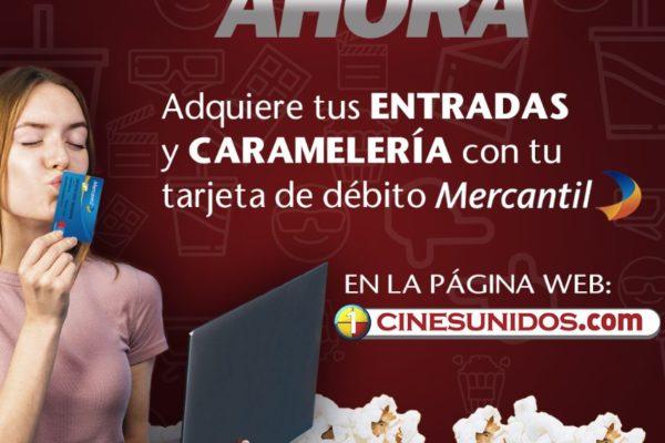 Cines Unidos lanza nueva opción de pago rápido en alianza con Banco Mercantil