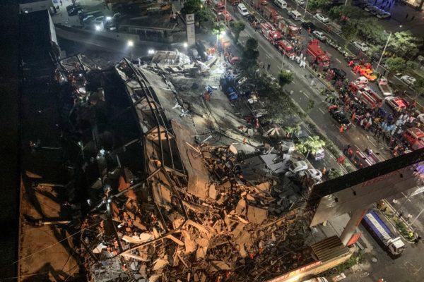 70 personas en cuarentena por coronavirus mueren en derrumbe de hotel en China