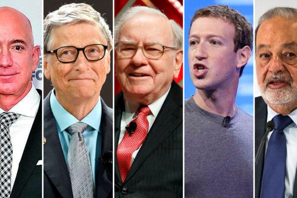 Conozca los empresarios que poseen la mitad de la riqueza de la población mundial