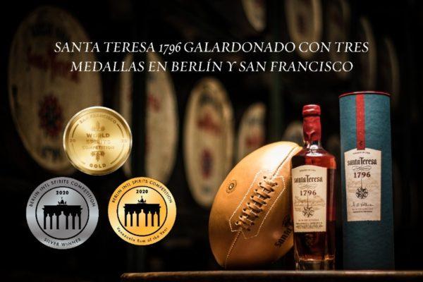 Ron Santa Teresa 1796 recibió tres medallas en competencias de Berlín y San Francisco