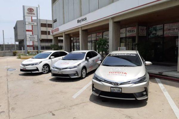 Toyota pone a disposición tres vehículos para autoridades sanitarias en Sucre