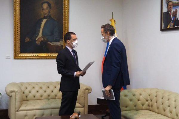 Arreaza entrega protesta al Reino Unido por crear «unidad de reconstrucción» de Venezuela