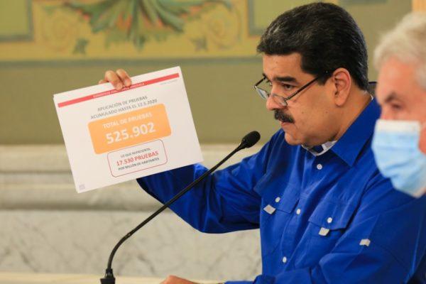 Maduro reporta 17 casos más y la cifra oficial de contagios llega a 440