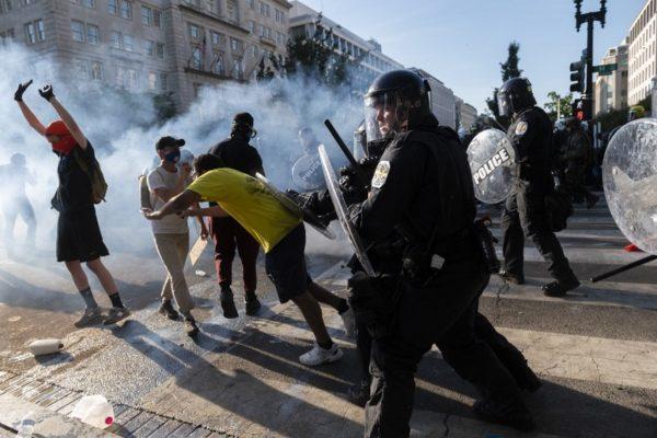 Estados Unidos vivió la centésima jornada de protestas contra el racismo y brutalidad policial