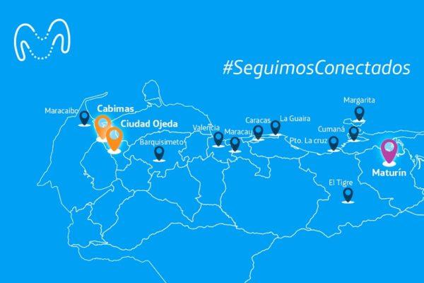 Movistar refuerza conexión 4G+ en Caracas, Maracaibo, Maracay y Barquisimeto