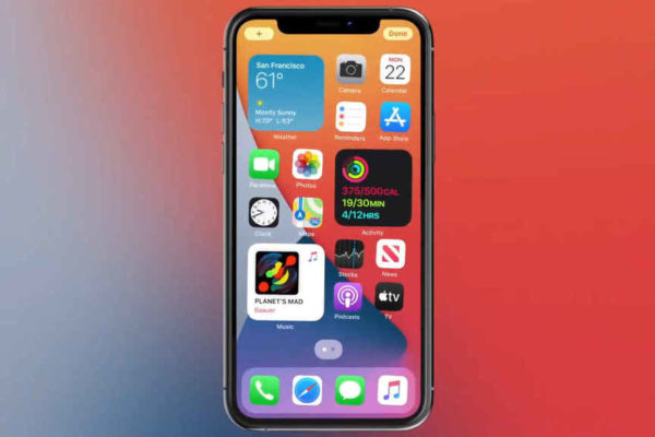 Nuevo iOS 14 introduce rediseño de la pantalla de inicio para permitir widgets