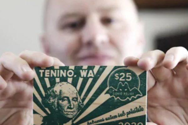 Una ciudad de EE.UU emite en madera su propia moneda debido a la pandemia