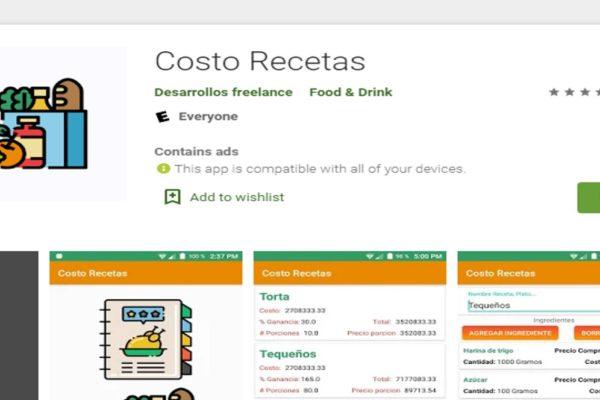 Venezolano crea aplicación para calcular valor de las recetas y ganancias de cada plato