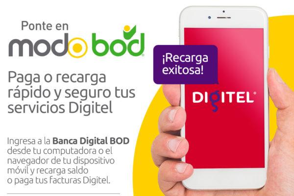 BOD incorpora a Digitel en su plataforma de pago de servicios