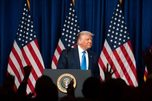 Republicanos proclaman a Trump y aplauden su denuncia de fraude electoral