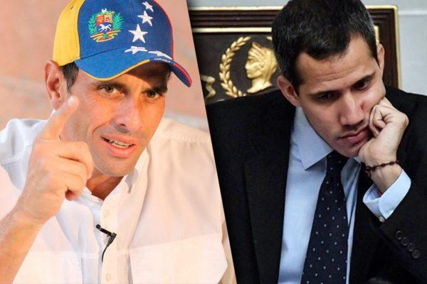 Tras desacuerdo en crear pacto unitario: Juan Guaidó se reunirá con Capriles