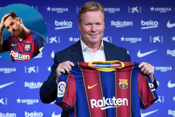 Koeman lamenta que desde el Barça acepten conveniencia de vender a Leo Messi