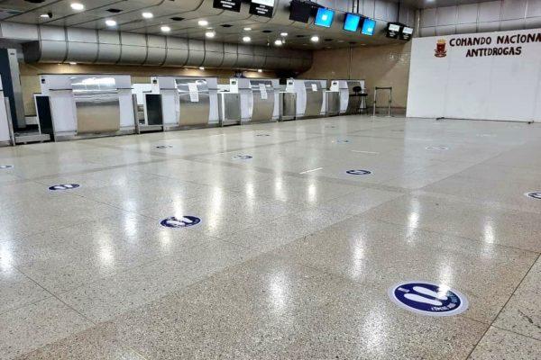 Aeropuerto de Maiquetía adecúa espacios para la posible reapertura de vuelos