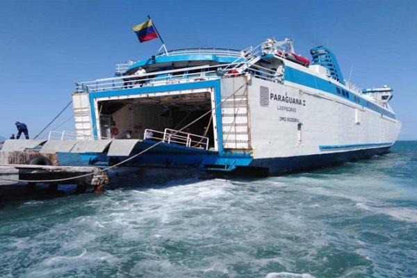 Operaciones de ferry Paraguaná I están suspendidas por casos de #Covid19 en tripulación