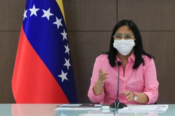Delcy Rodríguez anuncia vacunación masiva a partir del segundo cuatrimestre de 2021