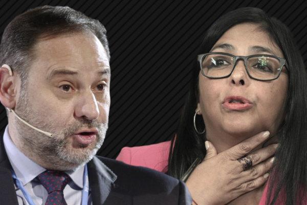 Fiscalía de Madrid reconoce que Delcy Rodríguez no debía entrar o transitar por España